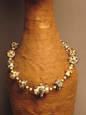 Warring States Ivory Glass Bead Necklace