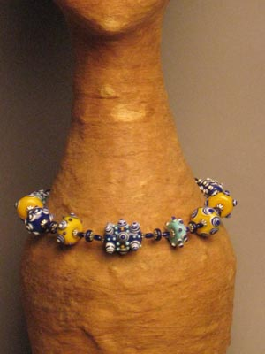 Warring States Multi-color Glass Bead Necklace